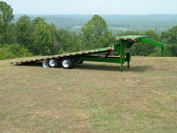 Tilt Bed Heavy Duty Equipment Trailer Built In Alabama